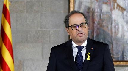 Katalonijos prezidentui Quimui Torrai gresia teismas dėl nepaklusnumo