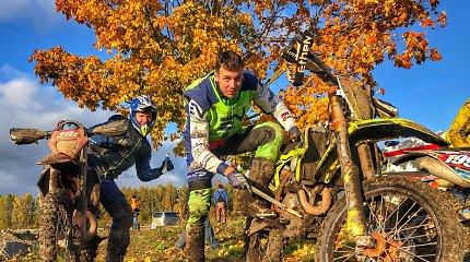 Arūno Gelažninko nesustabdė nei sustreikavęs motociklas, nei baudos: užsitikrino Baltijos Enduro čempiono titulą