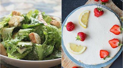 auGalingas iššūkis: veganiškos Cezario salotos ir citrininė tarta