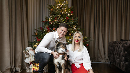 Spindinčios Liepos ir Evaldo Norkevičių Kalėdos: ant dvimetrinės eglės – ypatingos puošmenos