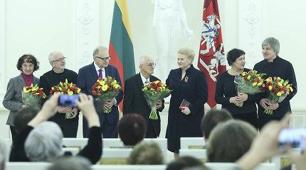 Prezidentūroje apdovanoti Nacionalinės premijos laureatai