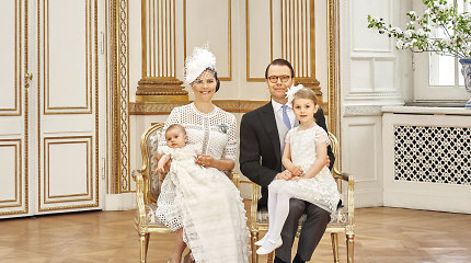 Paviešinta Švedijos princo Oscaro krikštynų fotosesija