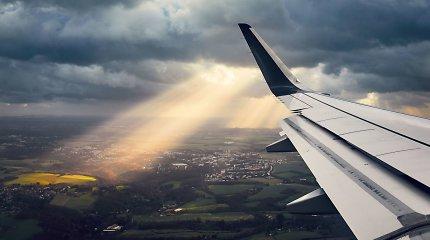 Lietuvos oro erdvėje skrydžių skaičius augo 1 proc. iki 206 tūkst.