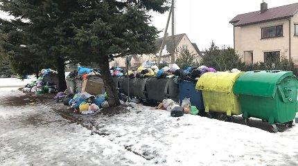 Grėsmė paskęsti šiukšlėse: negavę pinigų atliekų vežėjai gali nutraukti darbą