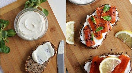 """auGalingas pirmadienis: kreminė užtepėlė ir sumuštinis su veganiška """"lašiša"""""""