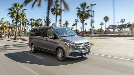 """Į Lietuvą atvyko naujasis mikroautobusas – """"Mercedes-Benz"""" V klasės modelis"""