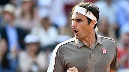 """""""Roland Garros"""": R.Federeris palaužė S.Wawrinką ir kausis su R.Nadaliu"""