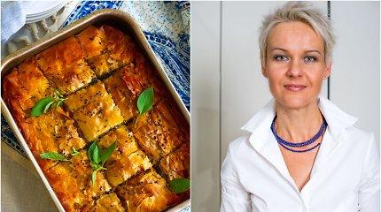 """Nidos receptas: graikiškas špinatų ir fetos pyragas """"Spanakopita"""""""