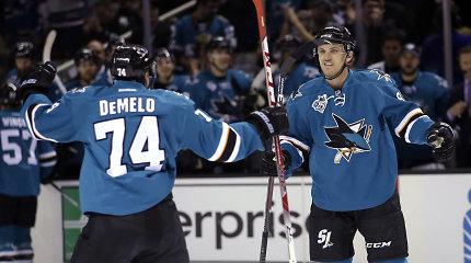 """NHL – Dainiaus Zubraus atstovaujamo San Chosė """"Sharks"""" klubo pergalė"""
