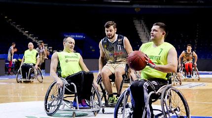 """""""Žalgirio"""" 3×3 turnyre – pirmą kartą neįgaliųjų krepšinio vežimėliuose varžybos"""