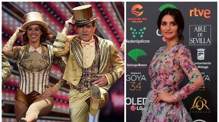 """Išdalyti Ispanijos """"Oskarai"""": apdovanojimuose – Antonio Banderaso šou ir Penelope Cruz elegancija"""