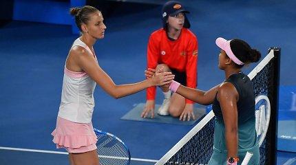 WTA reitingo sostą medžioja dvi tenisininkės
