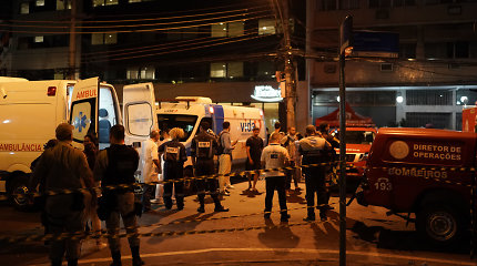 Rio de Žaneiro ligoninėje kilus gaisrui žuvo mažiausiai 10 žmonių