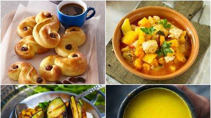 Geltonai oranžinis savaitgalio valgiaraštis: ir tradiciniai lietuviški, ir egzotiški patiekalai