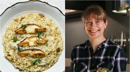 """""""Bulvių košės"""" receptas: rizotas su jautienos kaulų čiulpais ir baravykais"""