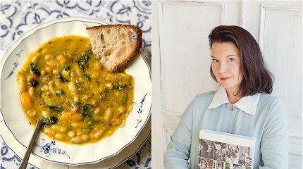 """Renatos Ničajienės """"Sezoninė virtuvė"""": toskanietiška pupelių sriuba su lapiniais kopūstais"""