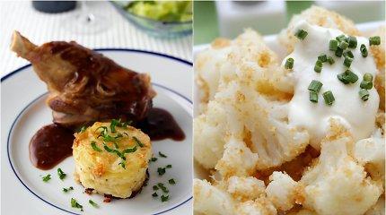 Savaitgalio valgiaraštis: nuo rafinuotų mėsos patiekalų iki skanėstų iš daržovių