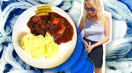 """""""Karantino kuchnia"""": senas geras jautienos guliašas su bulvių koše"""