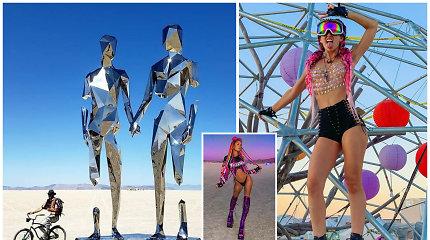 """Praūžė siautulingas """"Burning Man"""" festivalis: įspūdingi meno kūriniai ir nesibaigiančios linksmybės"""