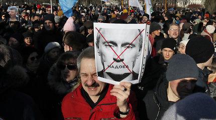 Rusijos opozicija ruošiasi protesto akcijoms dėl Konstitucijos pataisų
