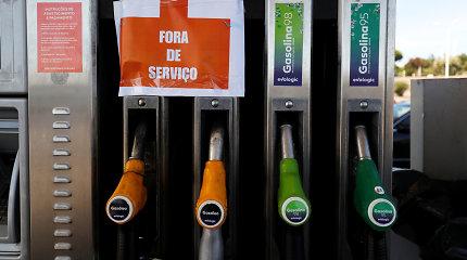 Portugalijos benzinvežių vairuotojai planuoja dar vieną streiką