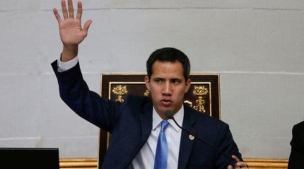 Venesuelos opozicijos lyderis J.Guaido po rizikingos užsienio kelionės grįžo į tėvynę