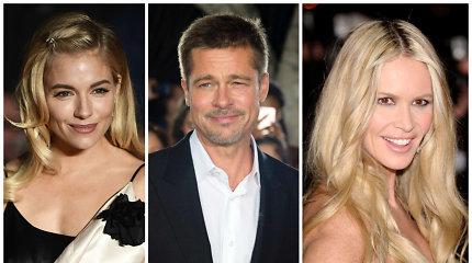 Bradui Pittui į porą peršamos ir Sienna Miller, ir Elle Macpherson: meiliai burkavo su abiem