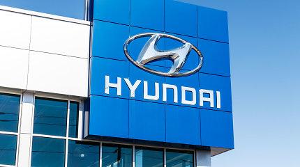 """""""Hyundai"""" akcijos pabrango penktadaliu dėl pranešimų apie galimą partnerystę su """"Apple"""""""