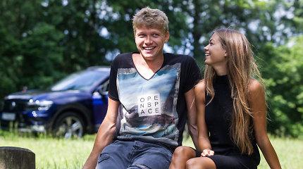 Mindaugo Kuzminsko ir Eglės Andreikaitės laisvalaikis Lietuvoje – su meškere žvejyboje