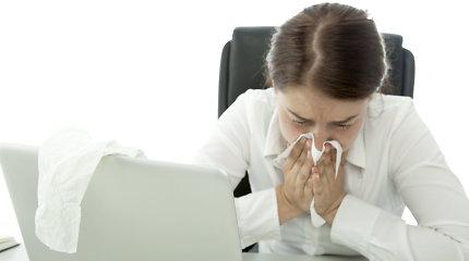 Sergamumas gripu ir peršalimo ligomis – mažesnis nei tuo pačiu metu pernai