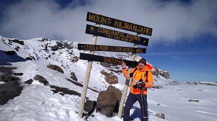 Lietuvis Kilimandžaro viršūnėje: kaip į trečią namo aukštą sunkiai užlipdavęs Mažvydas įveikė save