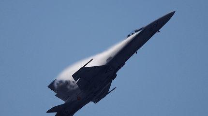 Prie Ispanijos krantų sudužusio karinio lėktuvo pilotas laikomas žuvusiu