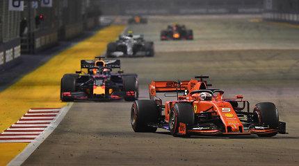F-1 etape Singapūro trasoje pergalę iškovojo Sebastianas Vettelis