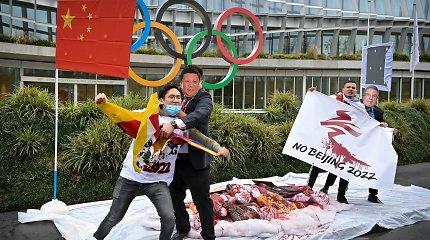 Dėl žmonių teisių kovojančių balsai skamba apie Pekino olimpinių žaidynių boikotą