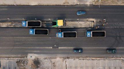 Perspėjimas vairuotojams – atnaujinamas Taikos prospekto Kaune asfaltavimas