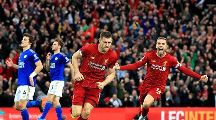 """Lesterio ašaros: paskutinę minutę skirtas baudinys lėmė """"Liverpool"""" pergalę"""