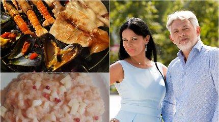 """Vakarienė pas Jurgą ir Paulių. Paskutinis Bobų vasaros grilis – langustinai, kalmarai, midijos. Ir """"risotto"""" su lašiša"""
