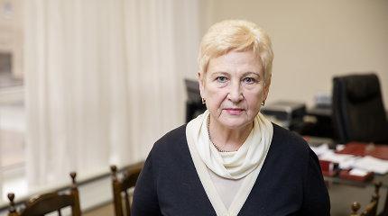 Ministerija siūlo skirti buvusiai Seimo vadovei I.Degutienei valstybinę pensiją