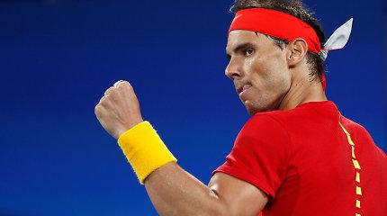 Ispanija – ATP taurės finale: N.Kyrgiosas buvo sutriuškintas, Rafa pribaigė šeimininkus