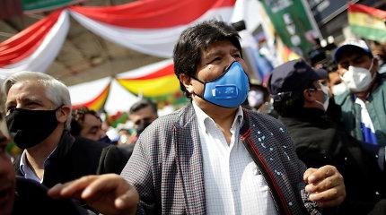 Buvęs Bolivijos prezidentas Evo Moralesas sugrįžo į savo šalį