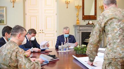 """Tiesa ar melas? G.Nausėda: """"Mūsų iniciatyva įkurtas 24/7 veikiantis kovos su COVID-19 operacijų valdymo štabas"""""""