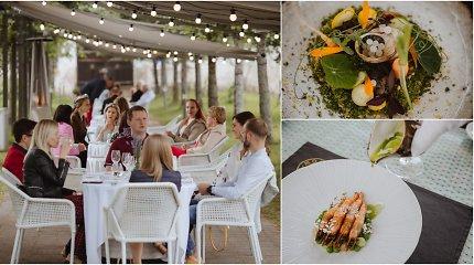 Egzotiška degustacija Pažaislio vienuolyne: Lietuvoje užaugintos krevetės, sraigių ikrai bei veganiški lašiniai
