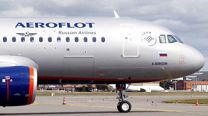 """""""Aeroflot"""" trečiadienį atšaukė penkis SSJ-100 lėktuvų skrydžius"""