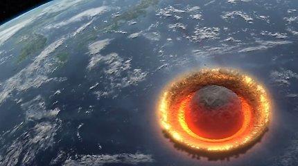 Skelbia apie Žemei smogsiantį asteroidą, tačiau tik antraštėje