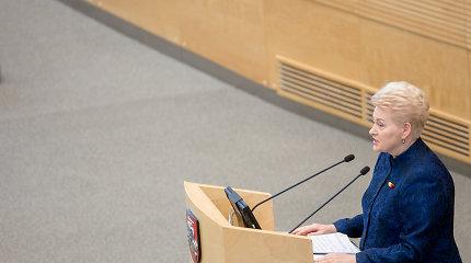 Seimas pritarė prezidentės veto dėl teisės turėti ginklą karo metu