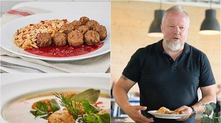 Pasaulinės švediškų kukulių dienos proga V.Radzevičius pasidalino originaliais receptais
