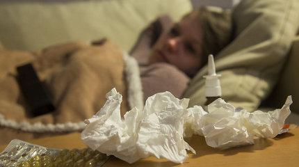Gripo atvejų ir toliau nuosekliai daugėja, daugiausiai sergančių – Kauno apskrity