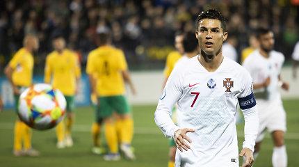 Cristiano Ronaldo skirta Vilniaus staigmena garsiai nuaidėjo užsienio žiniasklaidoje
