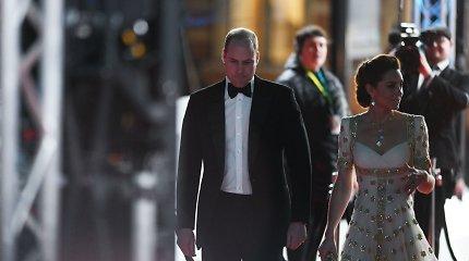 Kembridžo hercogai Williamas ir Catherine BAFTA apdovanojimuose