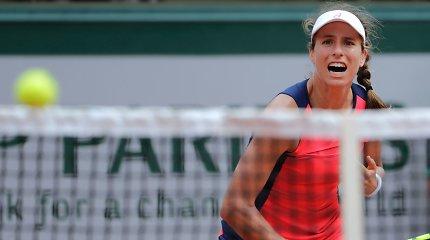 """Johanna Konta trečią kartą paeiliui neįveikė pirmojo """"French Open"""" barjero"""